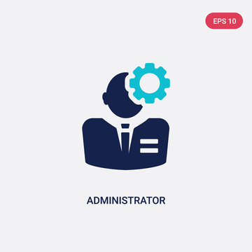 two color administrator vector icon from human resources concept. isolated blue administrator vector sign symbol can be use for web, mobile and logo. eps 10
