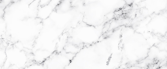 Fototapeta Luxury of white marble texture and background for decorative design pattern art work. Marble with high resolution obraz