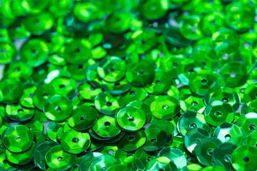 green  sequins macro background