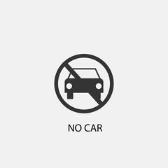 No car vector icon icon illustration sign