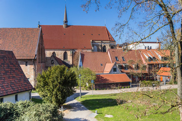 Fototapete - Church of the historic Klosterhof monastery in Rostock, Germany