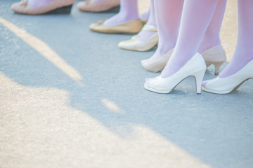 picture A group of ladies feet standing together
