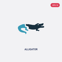 two color alligator vector icon from animals concept. isolated blue alligator vector sign symbol can be use for web, mobile and logo. eps 10