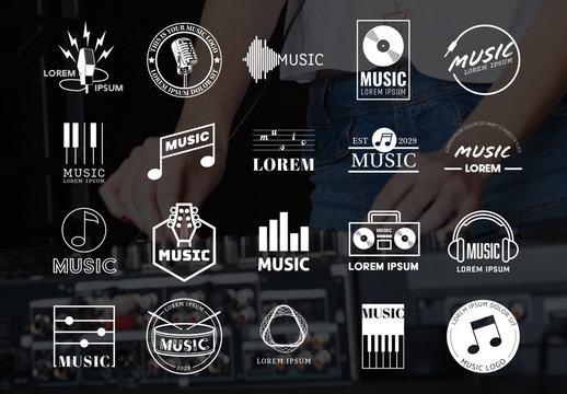 Music-Themed Logo Set