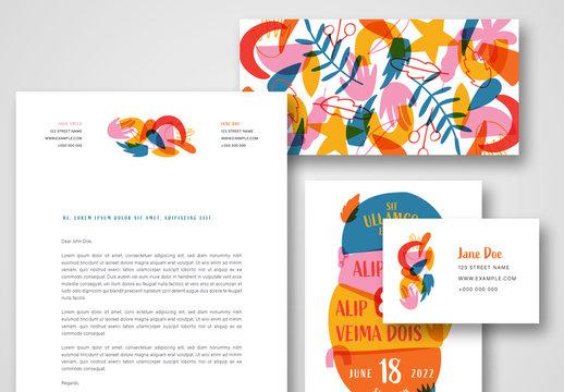 Colorful Stationery Set
