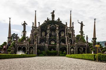 Stresa, Italy: Isola Bella garden, Borromeo palace, Lombardy, Italy, Lago Maggiore Wall mural
