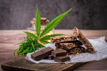 Fototapeta chocolate with mint obraz