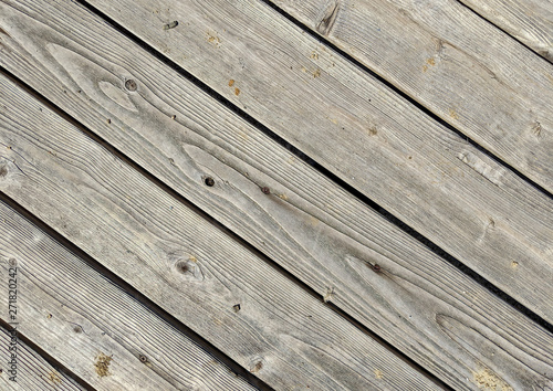 Rows of old pressure treated decking