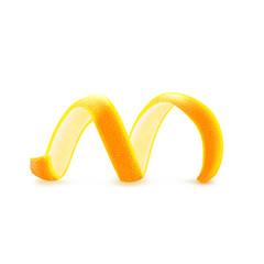 Fototapeta Citrus peel to decorate cocktails and desserts, candied fruit, vector. obraz