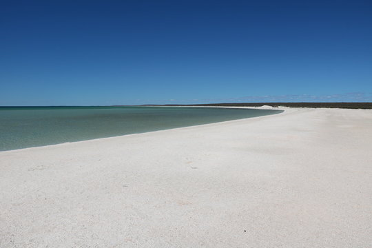 Holiday at Shell Beach in the Shark Bay region, Western Australia