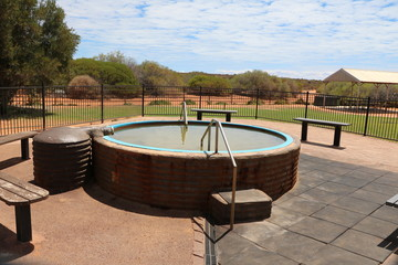 Hot tub im Outback in Western Australia