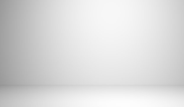 Abstract luxury white gradient background used for display product ad and website template, 3D illustration.