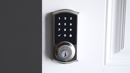 Digital password smart door lock security system