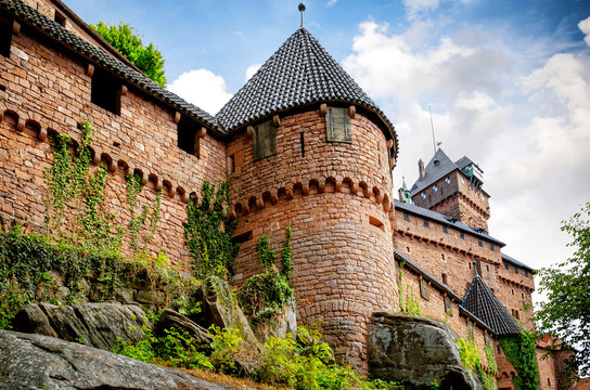 View from Chateau du Haut-Koenigsbourg. Orschwiller, Alsace, France