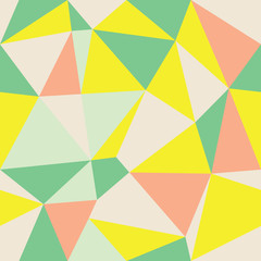 Vector Abstract Triangle Geometrical Multicolored Background. Suitable for textile, gift wrap and wallpaper.