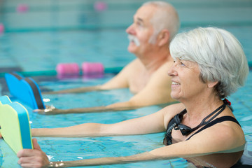 water sports and aerobics for elders