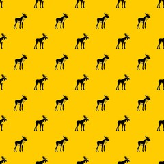 Moose pattern seamless vector repeat geometric yellow for any design