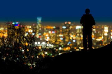 Fototapete - Los Angeles at Night