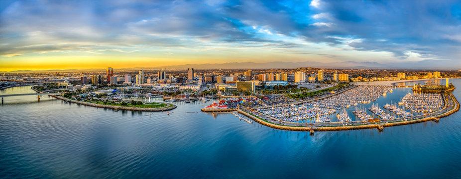 Long Beach Bay in Los Angeles California