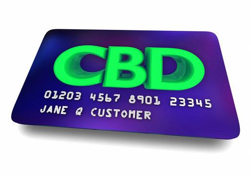 CBD Cannabidiol Marijuana Cannabis Credit Card Loyalty Member 3d Illustration