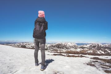 Woman in the mountain.