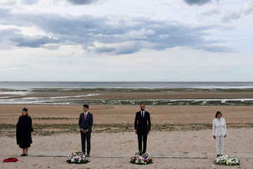 French Prime Minister Edouard Philippe hosts an international D-Day commemoration ceremony at Juno Beach, in Courseulles
