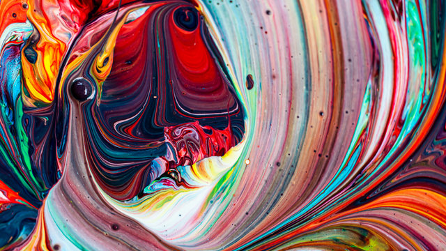 Abstract background of colorful mixed paint