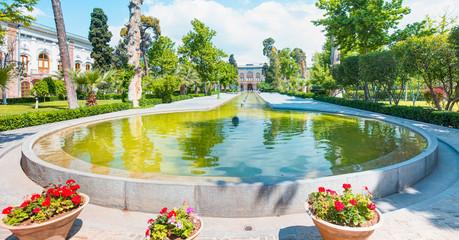 Beautiful view of the Golestan Palace
