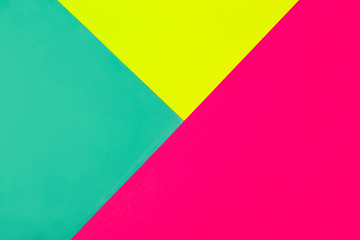 Abstract geometric background in bright neon colors. Glowing Magenta diagonal