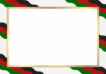 Border made with Kenya national colors Wall mural