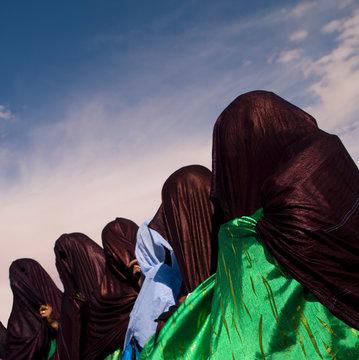 Tuareg Women Dancing And Singing, Ghadames, Libya