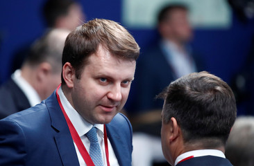 Russia's Economy Minister Maxim Oreshkin attends the St. Petersburg International Economic Forum