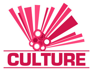 Culture Pink Graphical Element Text