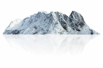 Mountain snow isolated