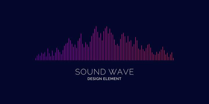 Sound wave equalizer. Vector illustration on dark background