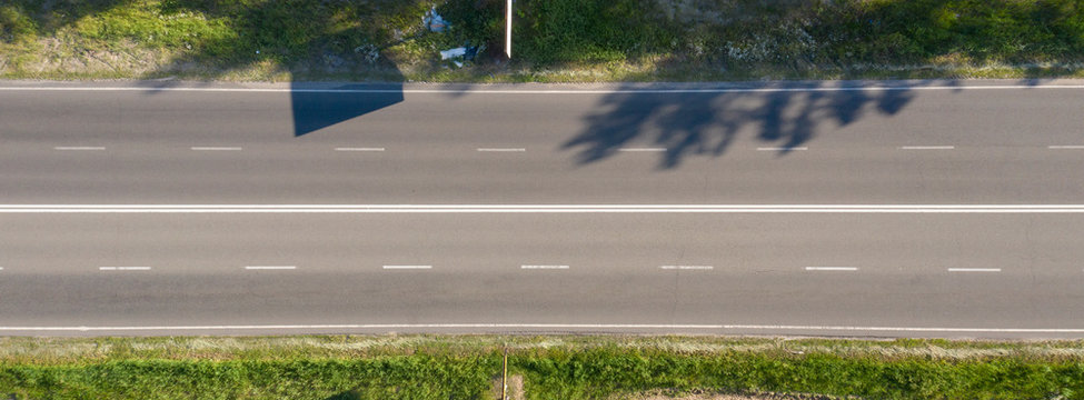 asphalt road, view from above