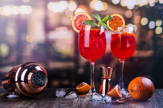 Italian Aperol Spritz cocktail