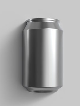 12 oz alloy beer or soda can. Realistic 3D render.