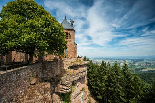 Monastery Mont Sainte-Odile, Ottrott, Bas-Rhin, Alsace, France, Europe