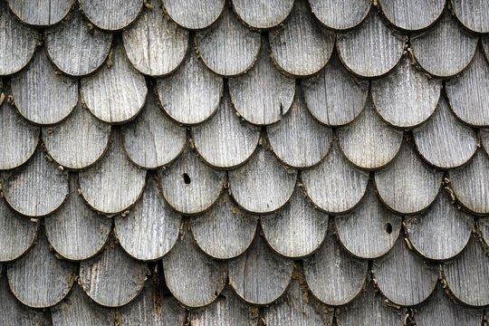 Old wood shingles on a farmhouse, Winkel near Sonthofen, Allgau, Bavaria, Germany, Europe