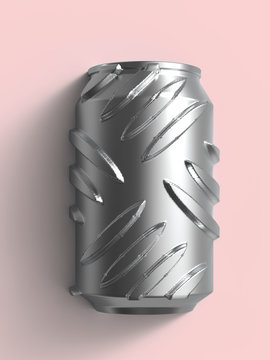 Brutal iron can on the sweet pink.