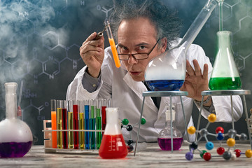 Wacky professor of chemistry experiment performed