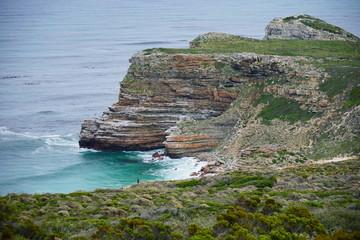 Klippen an der Küste Cape Towns