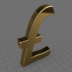 Gold pound sterling symbol