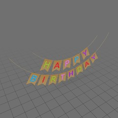 Happy birthday sign with letters