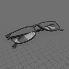Modern folded eyeglasses