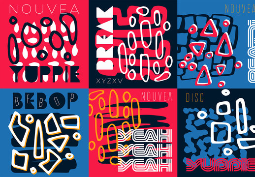 Social Post Layouts with Abstract Shapes