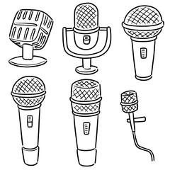 vector set of microphone