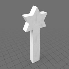 Star of David gravestone