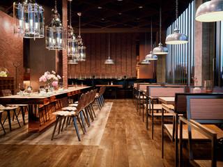 Fototapeta 3d render of a restaurant  interior obraz